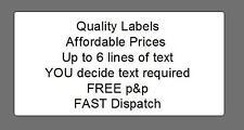 100 Pre printed address labels