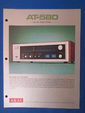 AKAI AT-580 TUNER SALES BROCHURE ORIGINAL FACTORY ISSUE THE REAL THING