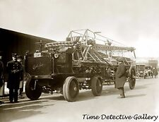 Auto Extension Pipe Fire Truck, New York City - c. 1910 - Historic Photo Print