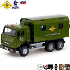 Model Van Truck Scale 1:32 KamAZ 6520 Russian Armed Forces Toy Car Light/Sound