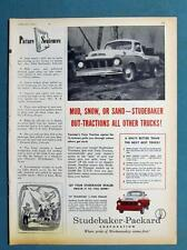 Original 1957 Studebaker Truck Ad MUD SNOW OR SAND TRANSTAR OUT-TRACTIONS ALL