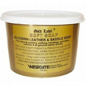 Gold Label Saddle Soap 500gm Glycerin Leather Pony Horse Care & Grooming soft