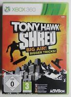 SANS SKATEBORD jeu TONY HAWK SHRED xbox 360 francais game spiel juego gioco X360