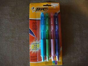 Bic BU3 Comfort Grip Retractable Ballpoint Pens, Assorted 4 Count