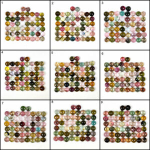 50 Pcs Natural Tourmaline 5.5mm-6mm Round Multi Color Superb Cabochon Gemstones
