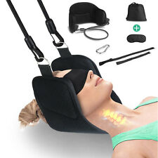 Cervical Traction Stretcher Back Head Neck Hanging Support Massager Pain Relief