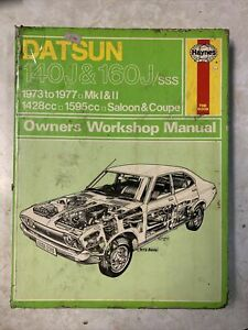 Datsun 140J & 160J 1973-77 Mk1 &2 Haynes Workshop Manual