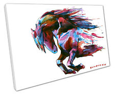 HORSE WATERCOLOUR CANVAS WALL ART PICTURE LARGE 75 X 50 CM