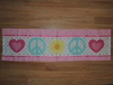 CIRCO PEACE GIRL Window Valance Pink Blue Hearts Flower 54 x 15
