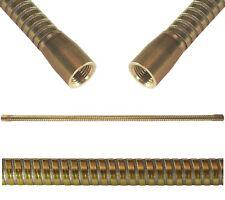 Lichthalterschlauch 420 mm  IG/IG M10x1 Flexarm Naturmessing / Stahl Ø 10,8 mm