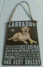 Amarillo Labrador-Vintage Retro Shabby Chic Perro Placa Letrero De Metal Mini