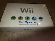Nintendo Wii Bundle Complete In Box Sports White Tested RVL-001 W/ Wii Sports