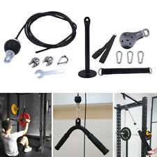 Fitness Pulley Cable Machine System Triceps Biceps Arm Blaster Trainer DIY Strap