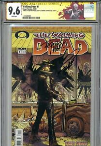Walking Dead 1 CGC 9.6 SS X2 1st print Robert Kirkman Tony Moore AMC Zombies 2 3