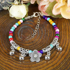 HOT Free shipping New Tibet silver multicolor jade turquoise bead bracelet S84B
