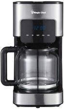 Magic Chef Kitchen Programmable Coffee Maker 12 Cup Stainless Steel Non Stick