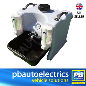 Portable Hot Water Hand Wash Sink Unit With Soap Dispensers - TESHW1