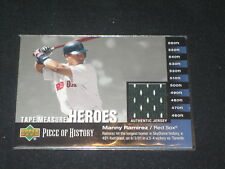 Manny Ramirez Red Sox Legend Certified Authentic Baseball Game Used Jersey Card