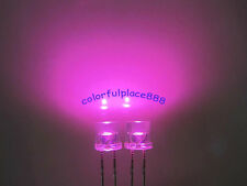 100pcs 5mm Pink Flat Top Led Wide Angle Water Clear Light Bright Leds Light New
