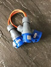 16A 600mm Caravan Electric 2 Way Hook Up Splitter Cable. Camping, Boats.