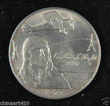 Samoa Tala Coin, 1977, Lindbergh's New York to Paris flight