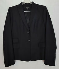 ANN TAYLOR 2 button long sleeved black professional blazer size 6