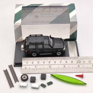 1/64 TOYOTA LAND CRUISER LC80 Black Collection Diecast Model Cars Right Master
