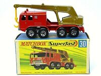 Matchbox Lesney No.30c Faun 8 Wheeled Crane In Type 'G2' With 'New' Box (RARE)