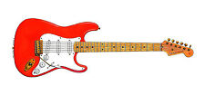Hank Marvin's Red Fender Stratocaster Greeting Card, DL size