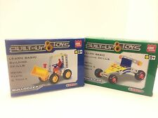 BUILT-UP & TOYS RACE CAR And Bulldozer (NEW In Box. NIB