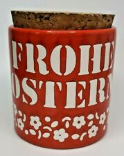 """Vinage Waechtersbach Frohe Ostern 4¼"""" Tall Container West Germany (U27)"""