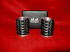 et al designs pair of heavy Black Candle Holder 2 1/4 inches high in the box