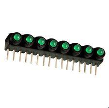 LED-Array 8-fach grün, 3mmØ  LED's, liegend, Mentor: 26.328.320 , 2St.