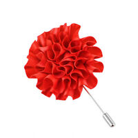 Fashion Flower Floral Lapel Pin Stick Tie Brooch Boutonniere Men Accessories ´p