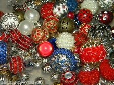 NEW 30/pc Jesse James Beads  RED/ WHITE/ BLUE MIXED RANDOMLY Picked Lot