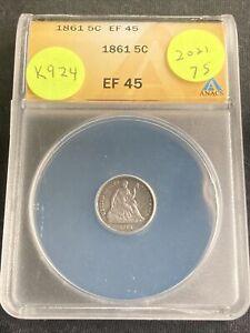 1861 Half Dime K924