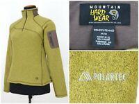 Womens Mountain Hardwear Fleece Jacket Green Zip Neck Pullover Size M