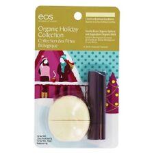 eos Limited Edition Lip Balm, Organic Vanilla Bean Sphere and Sugarplum Stick