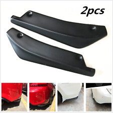 Universal Fit Rear Bumper Lip Winglets Side Skirt Extensions Splitter 2pcs Black