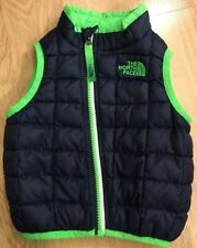 THE NORTH FACE THERMOBALL Vest Baby Toddler Size 6-12 Months Seahawk Colors