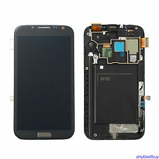 LCD Touch Screen Glass Lens Digitizer Frame For Samsung Galaxy Note 2 N7105 i317