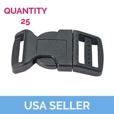 1 inch Curved Side Release Buckle, Side Release, 25 Pcs Shipped from USA