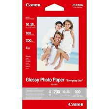 Canon GP-501 (10cm x 15cm) 200g/m2 Glossy Photo Paper (White) 1 Pack of 100