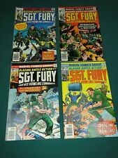 MARVEL COMICS SGT. FURY AND HIS HOWLING COMMANDOS GROUP #135,136,139 & 140!!