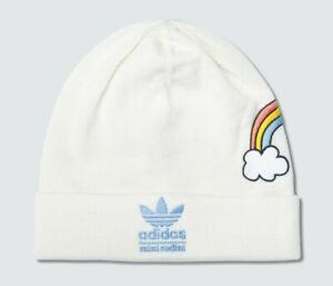 AUTHENTIC Mini Rodini Adidas Rainbow Beanie Hat - OffWhite -  Unisex - BR4848
