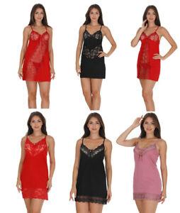 Ladies Womens Sexy Chemise Long Nightdress Nighty Nightshirt Nightie
