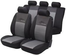 Universal Netzoptik Polyester Auto Sitzbezüge silber 8-teilig, 30 Grad waschbar