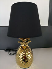 Reality R50421079 Tischleuchte gold / Schirm schwarz/gold E14 40W