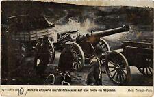 CPA  Militaire - Piece d'artillerie lourde Francaise - Route en Argonne (695866)