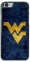 West Virginia WVU Wooden Logo Phone Case for iPhone Samsung LG Google Pixel etc